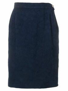YVES SAINT LAURENT PRE-OWNED 1980's straight fit skirt - Blue