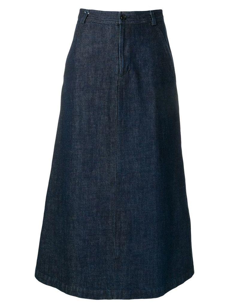 Comme Des Garçons Vintage 1990's long denim skirt - Blue