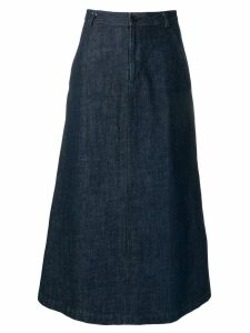 Comme Des Garçons Pre-Owned 1990's long denim skirt - Blue