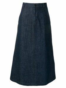 Comme Des Garçons Pre-Owned 1990's long denim skirt - Blue