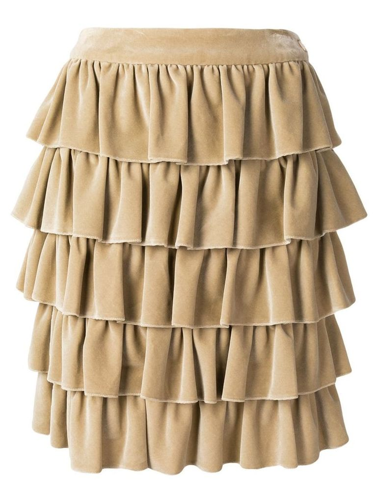 Chanel Vintage 2001's ruffled skirt - Neutrals