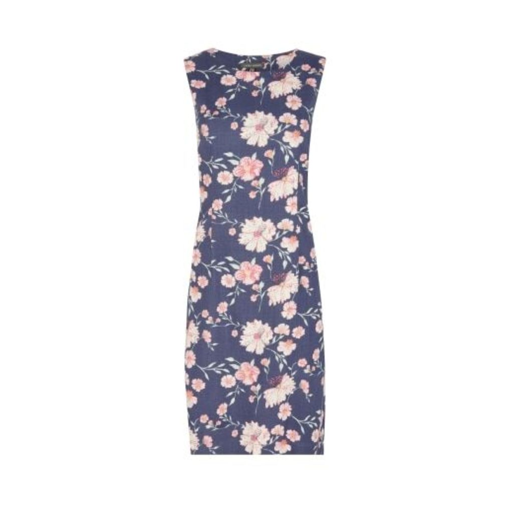 Lewis Garden Print Sleeveless Shift Dress