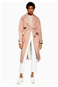 Womens Trench Coat - Peach, Peach