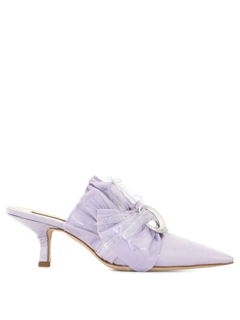 Midnight 00 embellished PVC mules - Purple