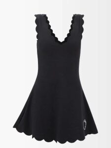 The Attico - Ruffle Trim Cotton Blend Bustier Dress - Womens - Green