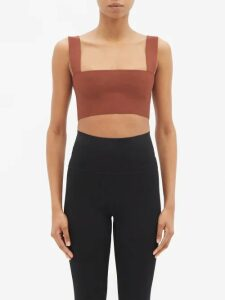 The Vampire's Wife - Festival Ruffle Trimmed Cotton Corduroy Dress - Womens - Orange