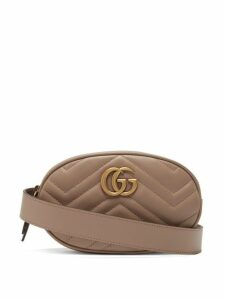 Gucci - Gg Marmont Quilted Leather Belt Bag - Womens - Nude