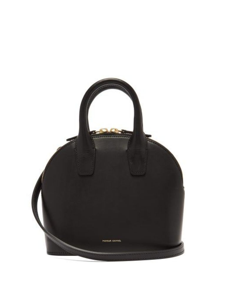 Mansur Gavriel - Top Handle Mini Leather Bag - Womens - Black Multi