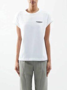 Mansur Gavriel - Fringe Mini Polka Dot Leather Bag - Womens - Red White