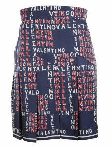 Valentino Logo Print Skirt
