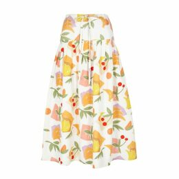 Rejina Pyo Cassie Fruit-print Cotton-blend Skirt