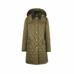 Burberry Detachable Hood Monogram Motif Quilted Coat