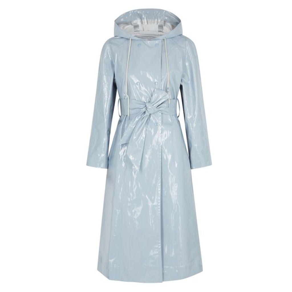 ALEXACHUNG Blue PVC Raincoat