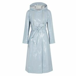 ALEXACHUNG Blue PVC Raincoat