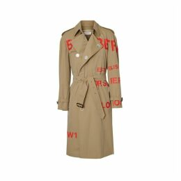 Burberry Horseferry Print Cotton Gabardine Trench Coat