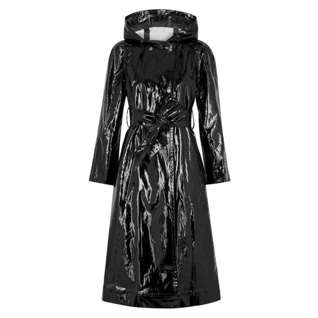ALEXACHUNG Black PVC Raincoat