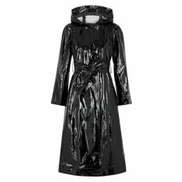 ALEXACHUNG Black PVC Raincoat