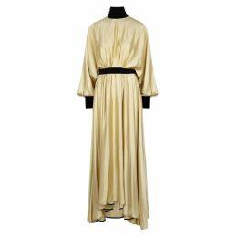 Roksanda Samia Pale Yellow Silk Dress