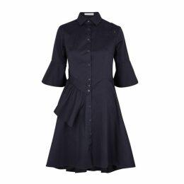 Palmer//harding Navy Stretch-cotton Dress
