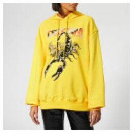 MSGM Women's Scorpio Hooded Top - Yellow
