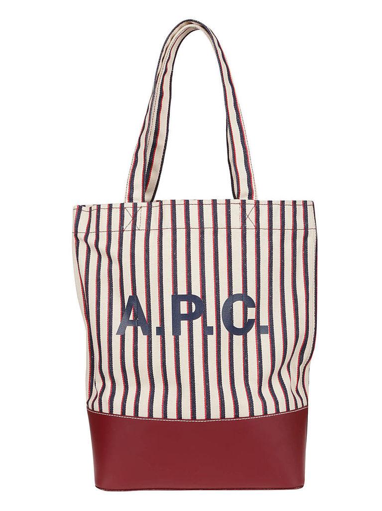 A.p.c. Stripe Shopper Bag