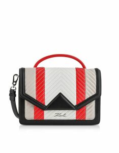 Karl Lagerfeld K/klassic Multicolor Quilted Leather Shoulder Bag