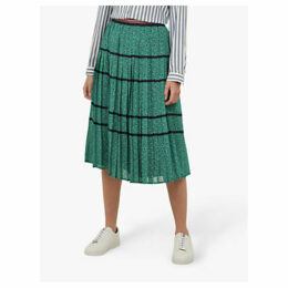 Ted Baker Colour By Numbers Talarla Floral Dot Pleated Midi Skirt, Green
