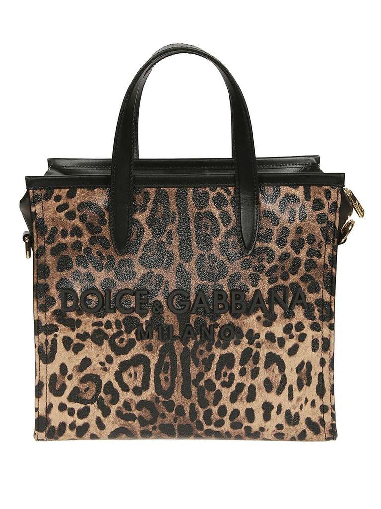 Dolce & Gabbana Medium Leopard Print Tote