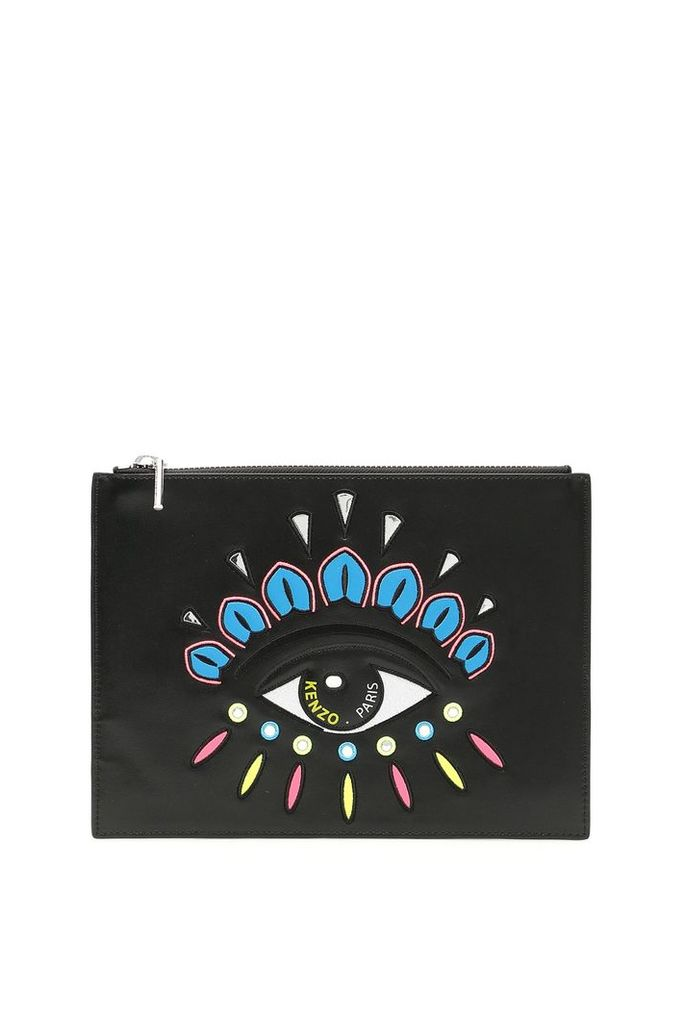 Kenzo Clutch With Eye Embroidery