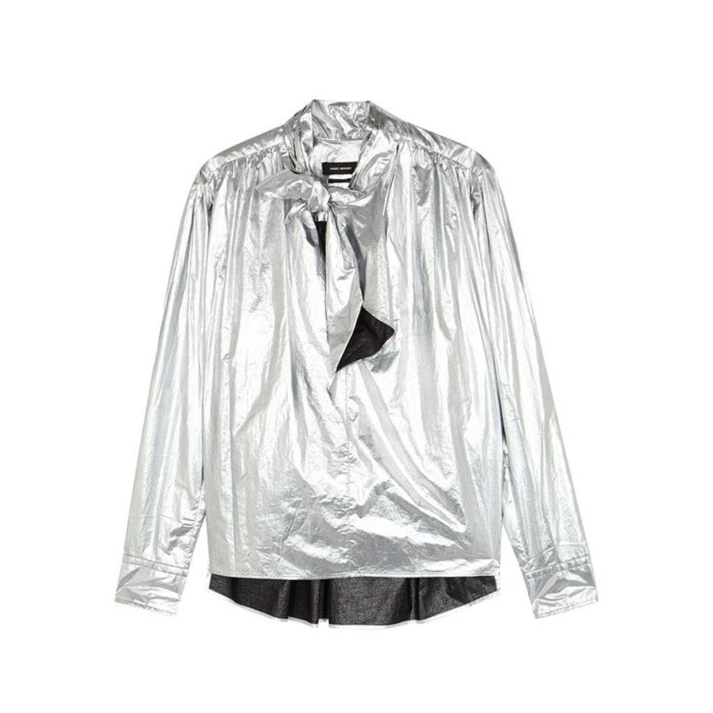 Isabel Marant Tessa Silver Cotton Shirt