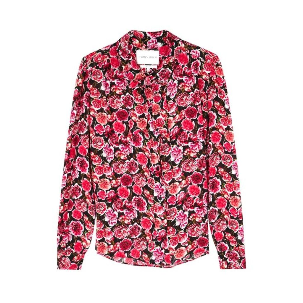 Carmen March Red Floral-print Shirt