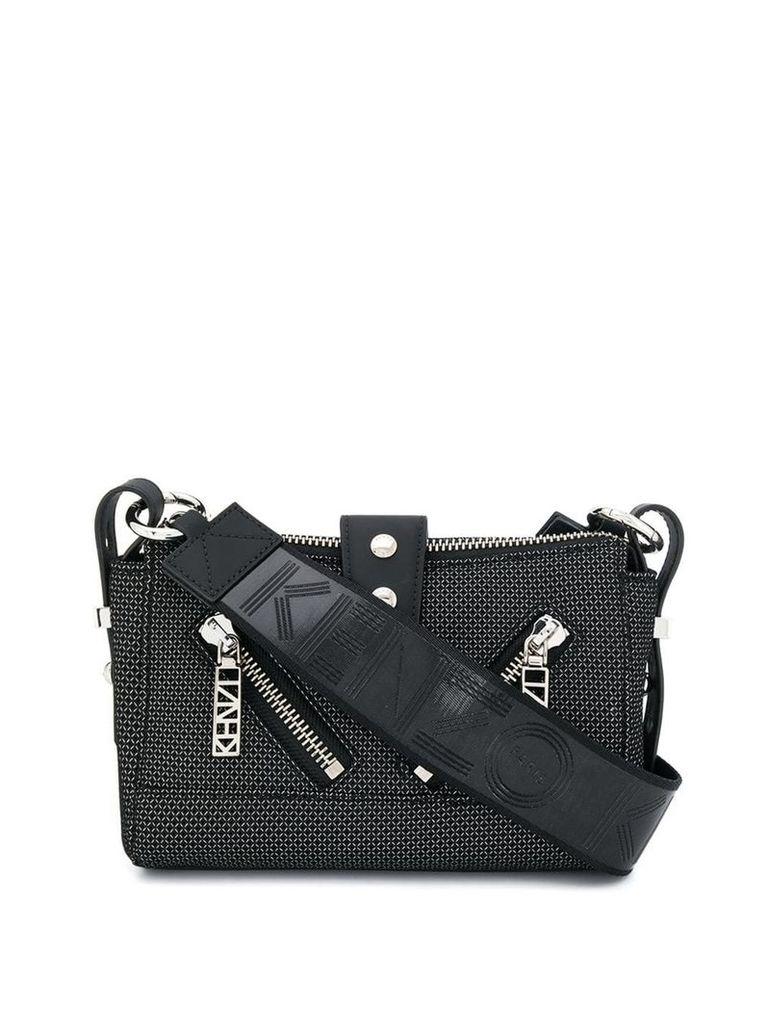 Kenzo patterned mini shoulder bag - Black
