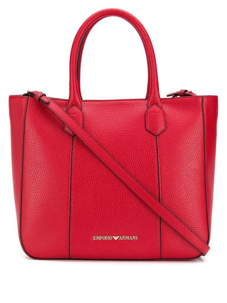 Emporio Armani logo shoulder bag - Red