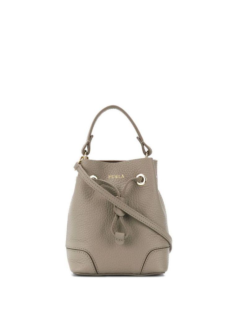 Furla mini Stacy bucket bag - Grey