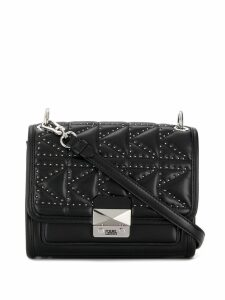 Karl Lagerfeld K/Kuilted Stud cross body bag - Black