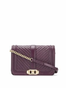 Rebecca Minkoff Chevron Quilted Love cross body bag - Purple