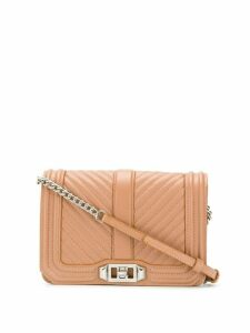 Rebecca Minkoff small Chevron Quilted Love cross body bag - Brown