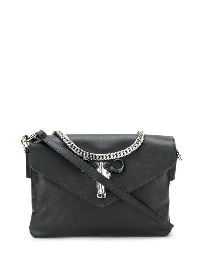 Just Cavalli black leather shoulder bag