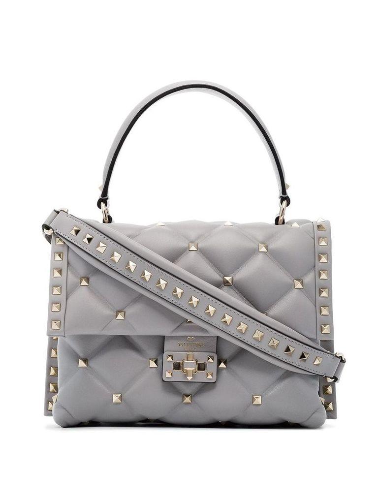 Valentino grey medium Candy studded leather shoulder bag
