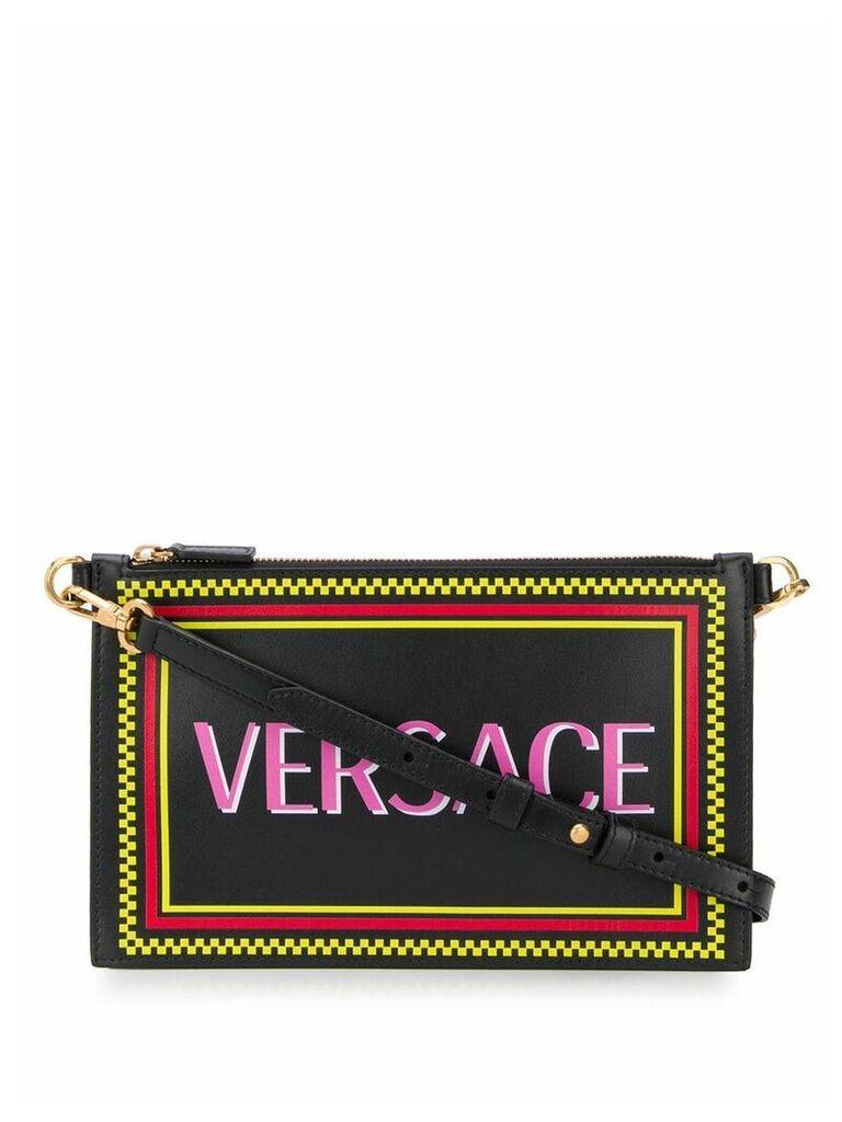 Versace logo print clutch bag - Black