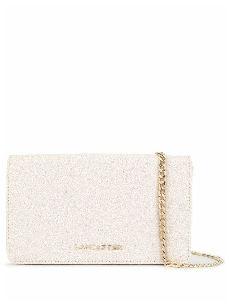 Lancaster Actual Shiny Glitter crossbody bag - Neutrals