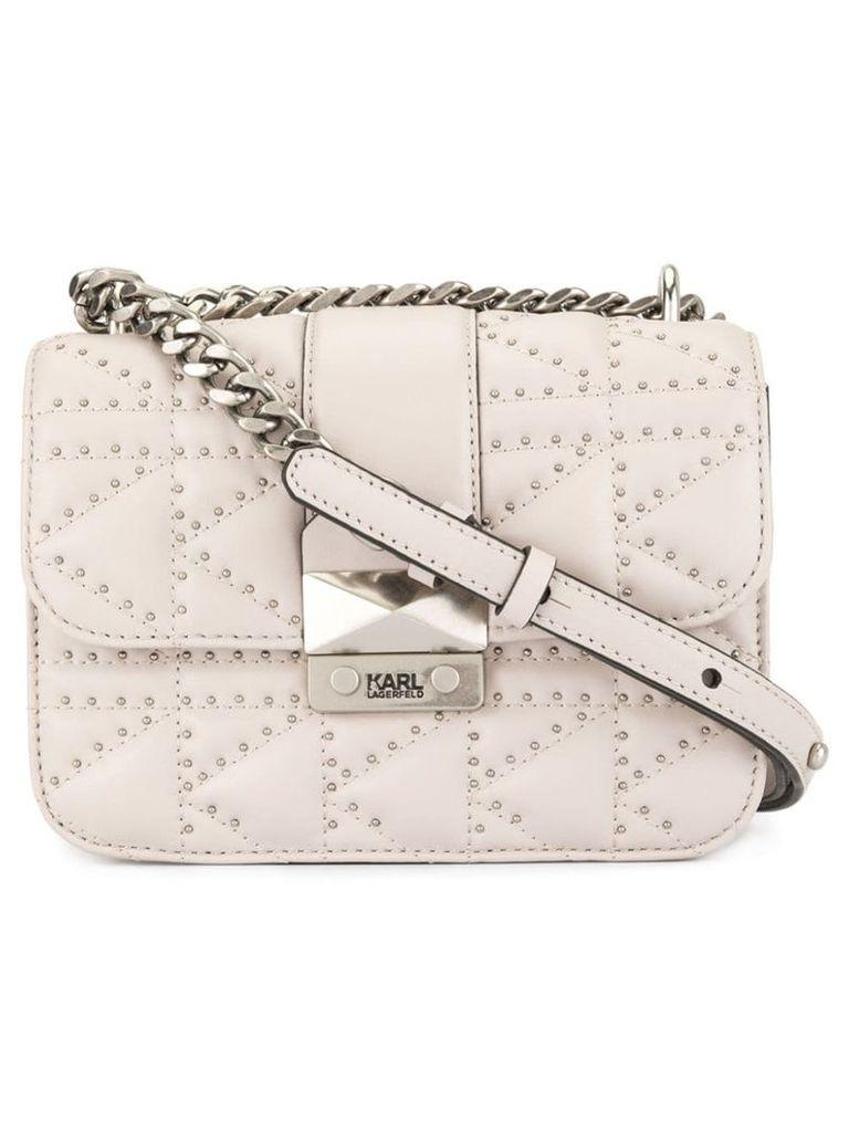 Karl Lagerfeld K/Ikonik quilted crossbody bag - Neutrals
