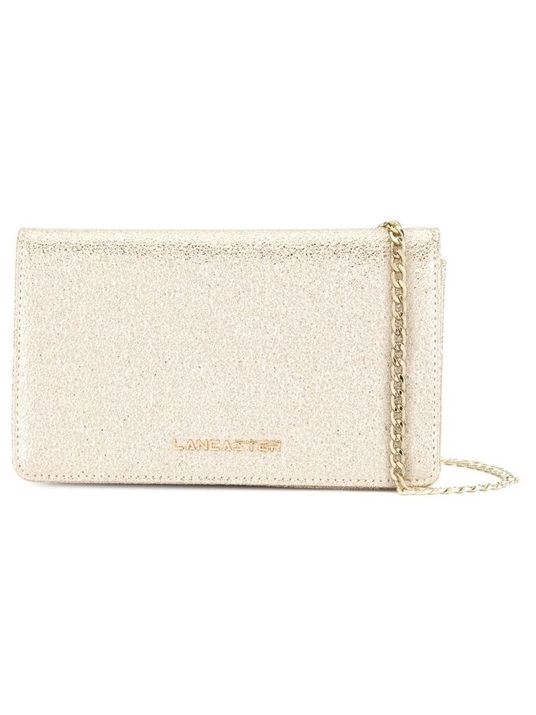 Lancaster Actual Shiny Glitter clutch - Gold