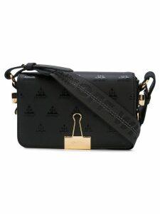 Off-White Logo binder clip shoulder bag - Black