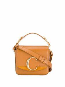 Chloé C mini crossbody bag - Brown