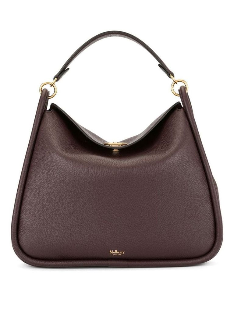Mulberry Leighton Small Classic Grain - Brown