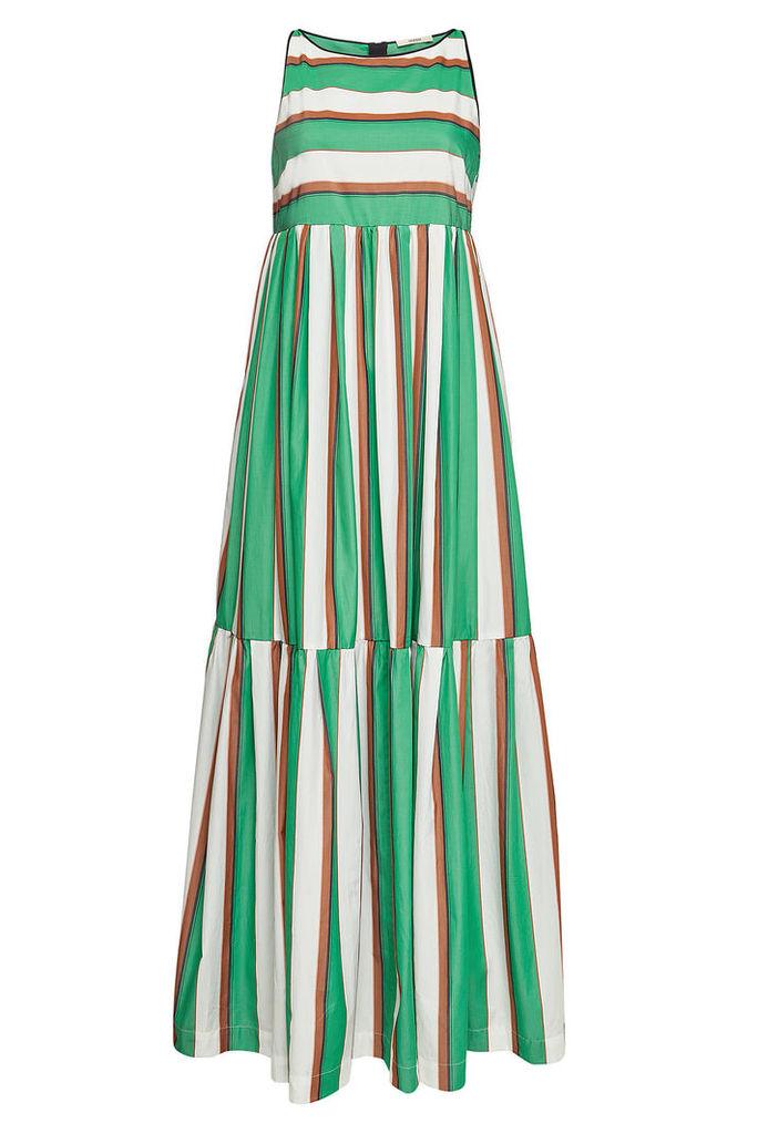 ODEEH Striped Cotton Maxi Dress