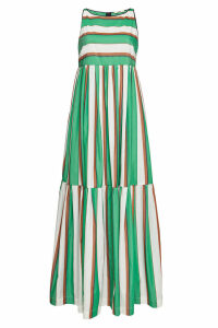 ODEEH Striped Cotton Maxi Dress