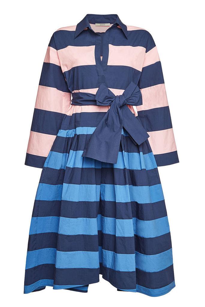 ODEEH Striped Cotton Dress