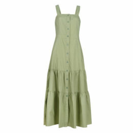 Benetton  DELPHI  women's Long Dress in Green